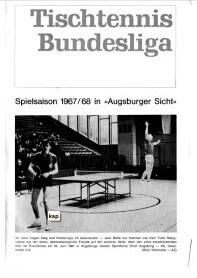 Saisonmagazin Post SV Augsburg Tischtennis 1966-1967