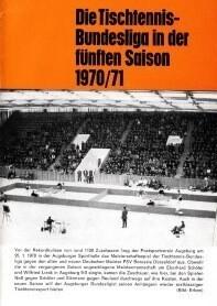 Saisonmagazin Post SV Augsburg Tischtennis 1970-1971