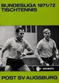 Saisonmagazin Post SV Augsburg Tischtennis 1982-1983