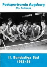 Saisonmagazin Post SV Augsburg Tischtennis 1985-1986