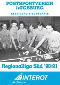 Saisonmagazin Post SV Augsburg Tischtennis 1990-1991