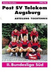 Saisonmagazin Post SV Augsburg Tischtennis 1995-1996