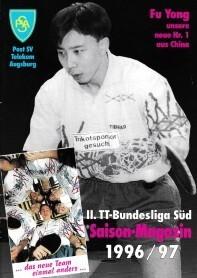 Saisonmagazin Post SV Augsburg Tischtennis 1996-1997