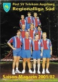Saisonmagazin Post SV Augsburg Tischtennis 2001-2002