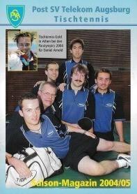 Saisonmagazin Post SV Augsburg Tischtennis 2004-2005
