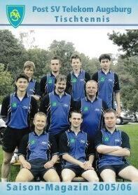 Saisonmagazin Post SV Augsburg Tischtennis 2005-2006