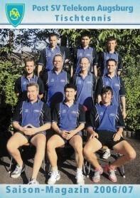 Saisonmagazin Post SV Augsburg Tischtennis 2006-2007