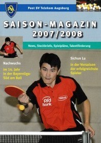 Saisonmagazin Post SV Augsburg Tischtennis 2007-2008
