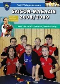 Saisonmagazin Post SV Augsburg Tischtennis 2008-2009