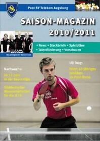 Saisonmagazin Post SV Augsburg Tischtennis 2010-2011