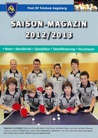Saisonmagazin Post SV Augsburg Tischtennis 2012-2013