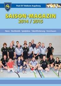 Saisonmagazin Post SV Augsburg Tischtennis 2014/2015