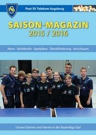 Saisonmagazin Post SV Augsburg Tischtennis 2015/2016