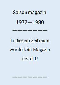 Saisonmagazin 1972-1980