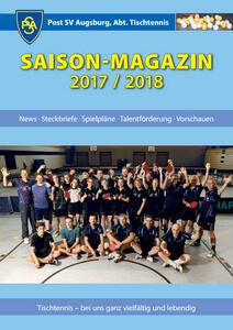 Saisonmagazin 2017-2018 POST SV Augsburg Tischtennis