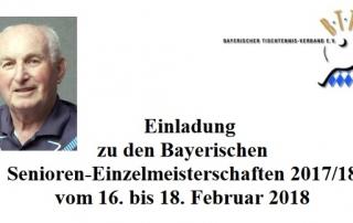Bayerische Meisterschaft Senioren
